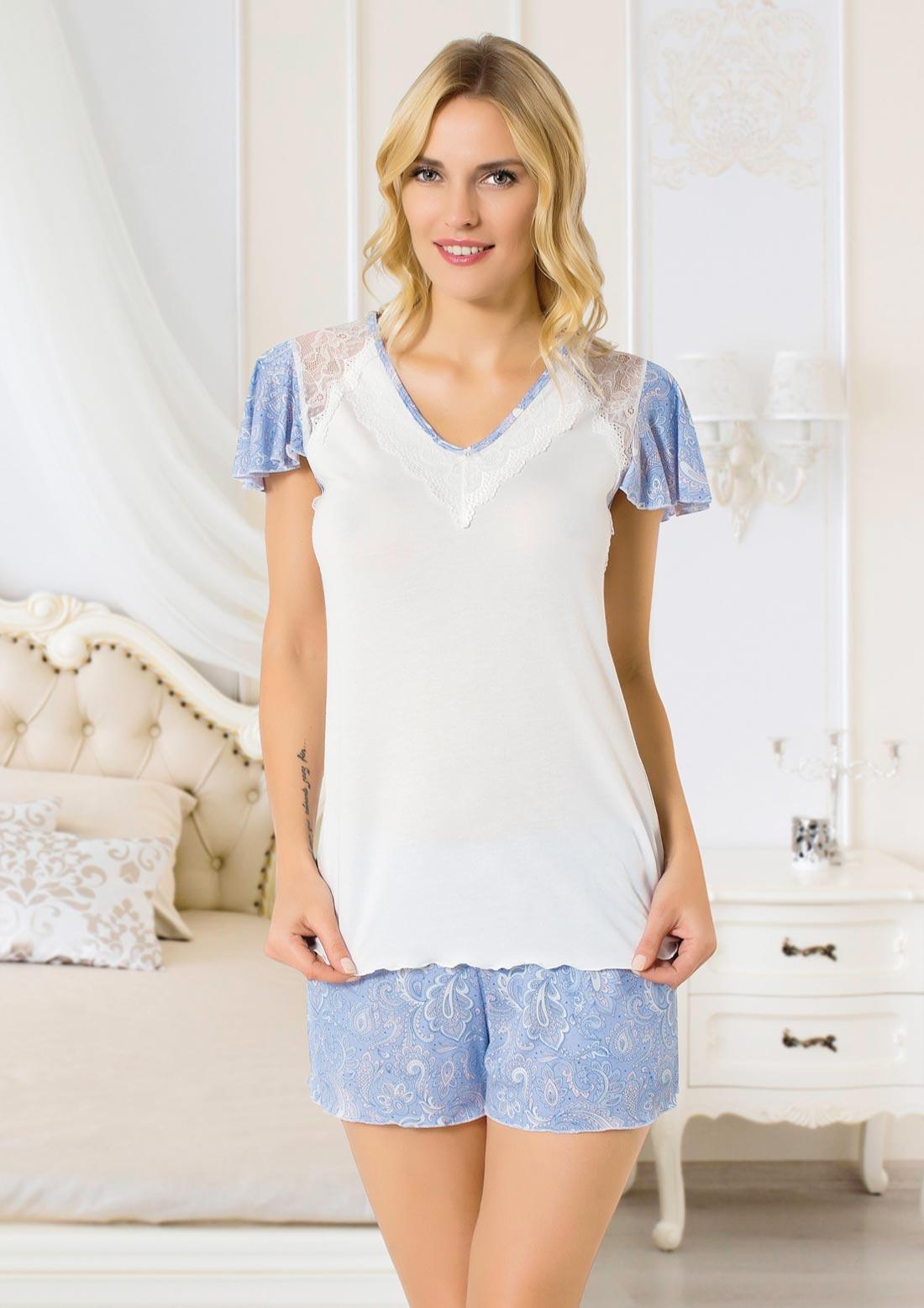 Pijamale dama top si pantaloni scurti